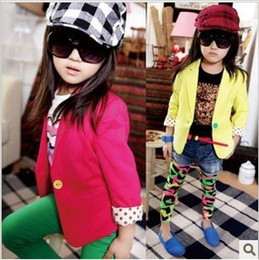 Wholesale Baby girls coat kids children candy suit autumn long sleeve outwear girls boy Coat B lca