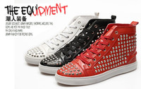 Wholesale Mens Shoes Mens Casual Shoes Stud Glitter Shoes spiky Mens Fashion Shoes Hip Hop Footwear for Sale