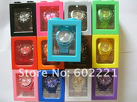 Wholesale 2015 Silicone Calendar Watch With box package Unisex Pointer Quartz Watch mm Silicone Date watch color