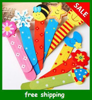 Wholesale Popular color wooden bookmark with ruler pattern cartoon with scale Bookmark mix send