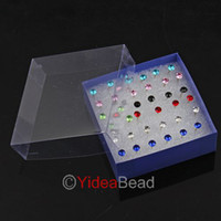 Wholesale 396pcs Fashion Hot Mixed Jewellery Plastic Rhinestone studs Earrings Display