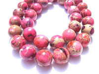 Wholesale high qulity round ball assortment color imperial jasper gemsotne bead mm strands