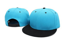 Wholesale Top blue and black cotton blank Snapback ball hats outdoor sport cap nice and cheap Cotton cap