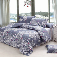 Wholesale 100 cotton Printed Soften Bedding Set Creative Quilt Cover Flat Sheet Pillowcase
