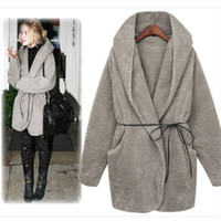 Wholesale New arrival women s woolen fabric coat fashion winter coat clothes casual lady cloth with belt