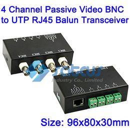 Video Balun 4 Channel Passive Video BNC to UTP RJ45 Balun Transceiver