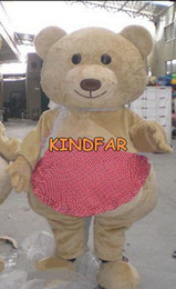 Wholesale Teddy bear cartoon mascot costume Halloween Party Outfits Professional Fancy Dress