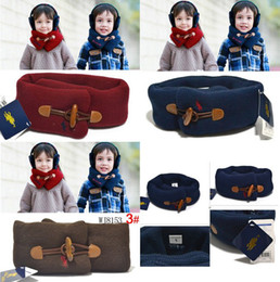 Wholesale Kids Boys Girls Warm Woolen Neck Warmer Wraps Muffler Scarf Solid Plain Color Fashion Boys Scarves
