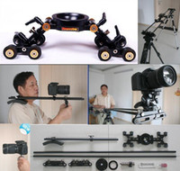 Wholesale 2012 Discoverycam quot Pro DSLR Camera Dolly Track Slider w Shoulder Jib Crane function