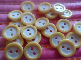 Cheap buttons 500x 12mm yellow round 2holes plastic Buttons,DIY appliques sewing scrapbook Cardmaking lot