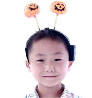 12-14 Years foam pumpkins - Pumpkin flash headband luminous Halloween decorations atmosphere props Halloween supplies accessorie