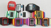 Wholesale Women Men Lego SHHORS Digital Watch Jelly Rainbow LED Light Unisex Watches Bracelet Wristwatch XMAS