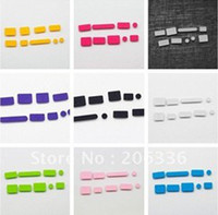 Wholesale 200 bags Silicone Data Port Anti Dustproof Plug For Macbook Air Retina quot quot Dust Plug Stopper Cover Set mixed Color