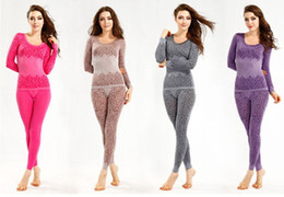 Wholesale free ship women s thermal underwear four color women s Long Johns