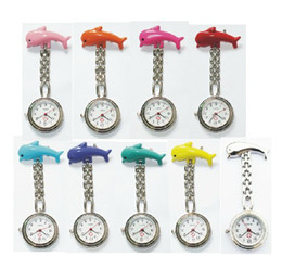 Wholesale 10pcs New active demand nurse watches colors pocket watch porpoise alloy nurse table
