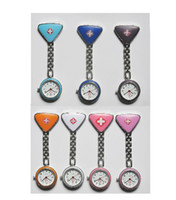 active digital watches - 10pcs active demand nurse watches colors pocket watch triangle watches reverse side clip watches