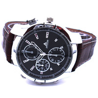 Wholesale 8GB New Waterproof p hd spy wrist watch Hidden camera IR Night Vision Newest style leather strap