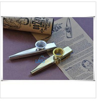 Wholesale Golden silver metal kazoo accompaniment whistle