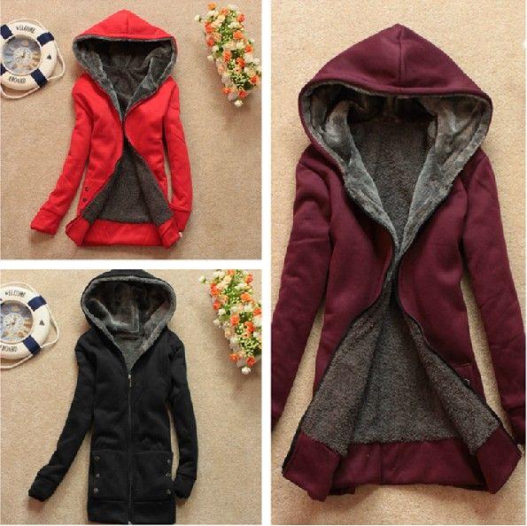 Sweater Coat With Hood Womens - JacketIn