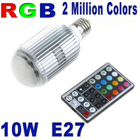 Wholesale New W E27 of brightness Colorful LED RGB Light Bulb V E27 Lamp with Remote Control H8786