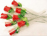 Valentine's Day   Valentine decoration handmade silk single red artificial rose