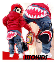 Wholesale ISSO KIDS Toddler Boys Casual Jeans Cool Korean Style Pants Sizes Boys Clothing