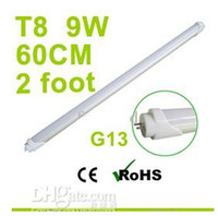 T8 9w SMD 3528 Factory Sale G13 2 Foot 900Lm 9W T8 Led Tube Light Cool White SMD3528 LED Fluorescent Lamp 110V 230V