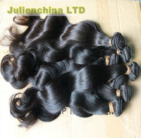 Wholesale 16 quot quot quot Brazilian Virgin Human Hair Extensions Natural Color Mix Length Remy Wave g