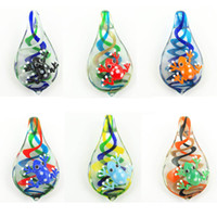 Wholesale 12 Handmade Fashion Jewelry Multi colors Murano Lampwork Glass Swirls Animal Frog Beads Pendant