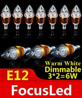 Wholesale High Power E12 W Dimmable Led Candle Light Bulb Lamp Warm White K Led Lights V V