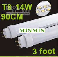 T8 14W SMD 3528 Led Fluorescent Lamp 90cm G13 14W Led Tube Light Warm White 110V 230V 1300LM 208 SMD3528 High Bright