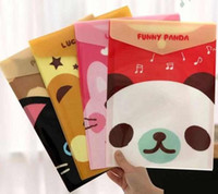 Wholesale New Cartoon funny animal File folder A4 documents file bag stationery FilingProduction