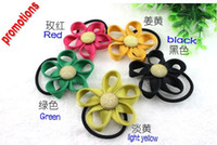 Middle Eastern Colorfull Children's Fashion Flower Hair Rubber Bands Elastic Hair Bands Accessories For Childen and Women TBt3