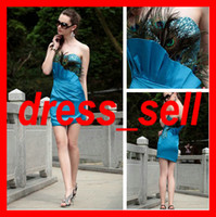 Reference Images Sweetheart Satin Sexy Short Classy Prom Party Dresses Sweetheart Paillette Peacock Feather Pleat Mini length Sheath