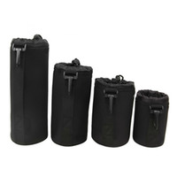 Wholesale 4pcs Neoprene DSLR Camera Lens Soft Protector Carry Pouch Bag Case Set S M L XL