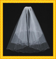 Wholesale 2015 Hot Sales In Stock Stunning Net Two Layer White Wedding Veils Bridal Veil Wedding Accessories