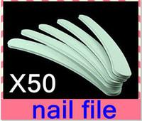 salon product - nail salon product nail file emery file nail art Crescent Grey Sandpaper nail file