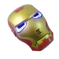 Wholesale Party Supply Shine Lite up eyes Iron Man Mask Bar Costume Masko Toy Halloween