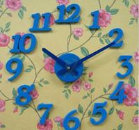 Wholesale Christmas gift DIY new design clock Korean creative simple clock blue
