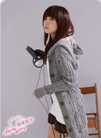 Wholesale New Fashion Women s Hoodie Cardigans trench Open Buttons Sweater GH67