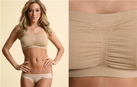 Wholesale set Seamless Bandeau Bra Tube Top Bra with Removable Pads