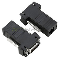 Wholesale VGA Video Extender Male to LAN CAT5 CAT6 RJ45 Network Cable Female Adapter