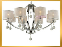 Wholesale Clear Crystal Chandelier Light Pendant Lamp Ceiling with Shade