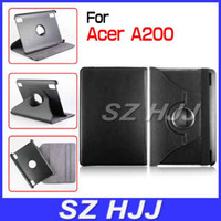 acer tablet - Tablet PC Leather Cover Degree Rotary Elastic Strap Case for Acer Iconia Tab A200
