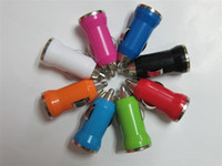 Wholesale Mini USB Car Charger Adapter V for iPod Touch iPhone S mobile phone mp3 mp4