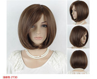 Cheap straight synthetic wigs Best African-American Wigs Christmas short wigs