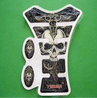 Wholesale 10pcs Yakuza Skull Motorcycle Gas Tank Pad Protector Decal For Yamaha Honda Kawasaki