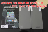 Wholesale Anti glare Front Back Full Body Matte LCD Screen Protector Cover film for iphone g
