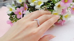 Christmas Gift Jewelry Fashion Rings Wedding Ring Crystal 18K gold-plated ring CZdiamond rings Jewel