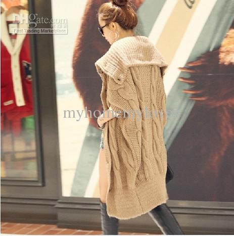 Women's Cardigan Sweater Long Sleeve Casual Slim Cotton Solid ...